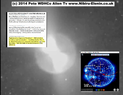 Sun Spot Threatens Earth, Mars showing explosion , Fukushima Updates a great quick video news release Alien TV