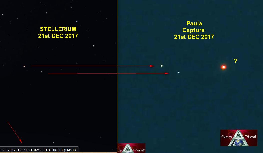 stellerium Planet X System BECKYS 4th Capture INVESTIGATED Dec 2017