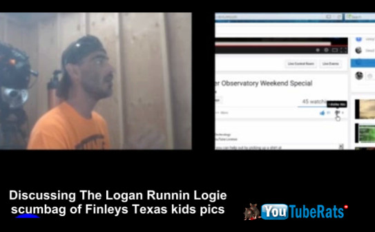 DANGERS On Youtube Skywatcher74 catches username Logan Runnin as kids pic dealer online
